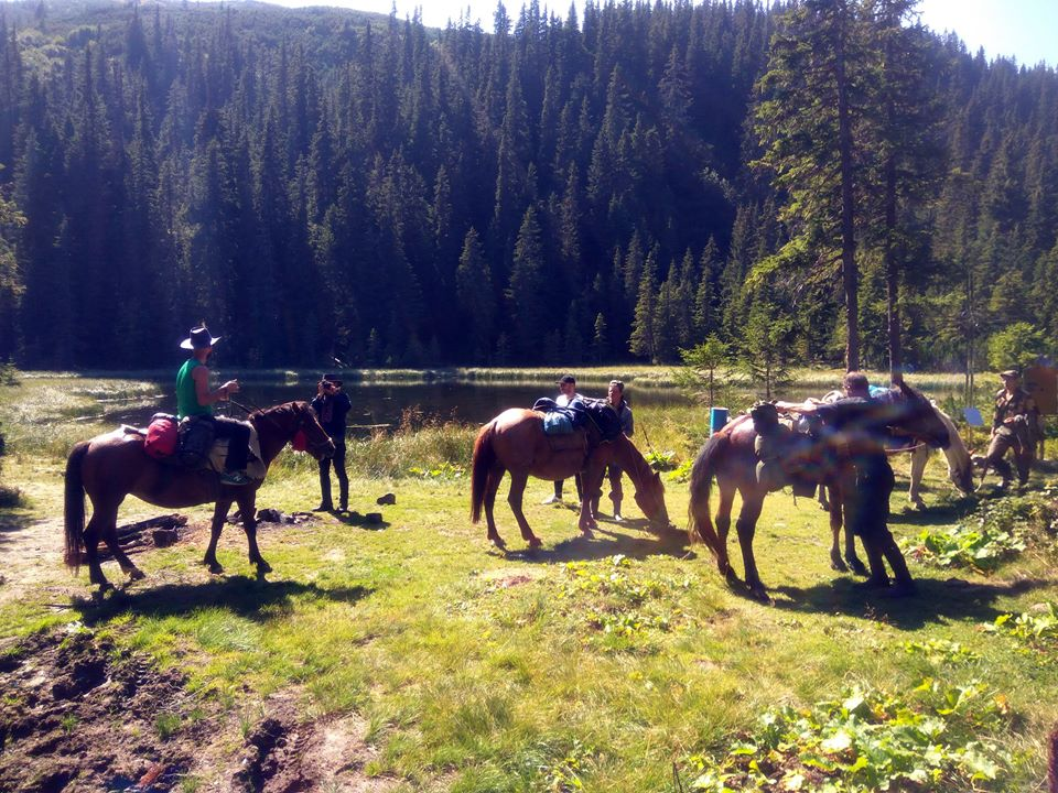 lunch break maricheyka lake tour horses pip ivan