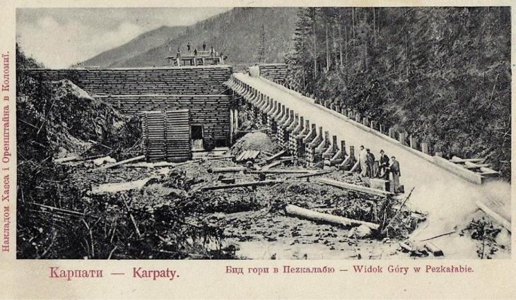 Die Geschichte der Flößerei in den Karpaten